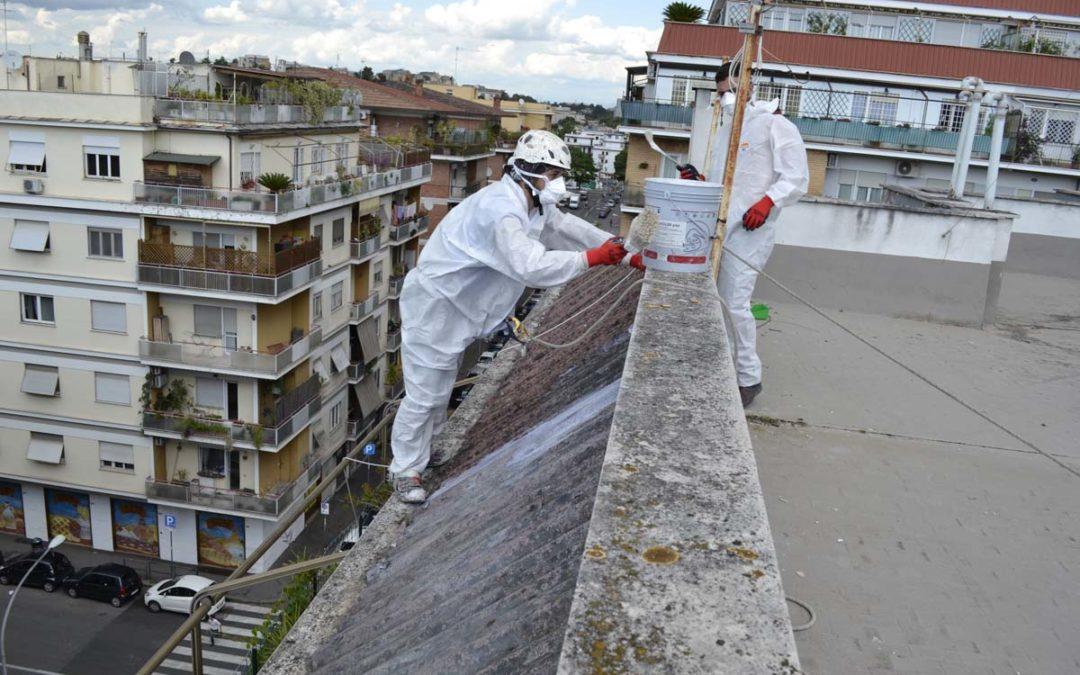 Incapsulamento amianto – Roma Via Conca d'Oro
